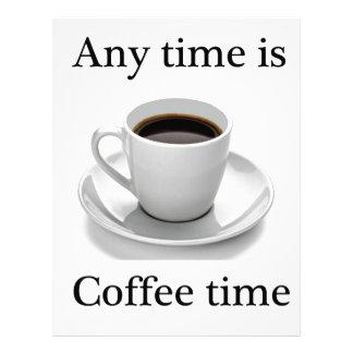 Está en cualquier momento el tiempo del café membrete personalizado
