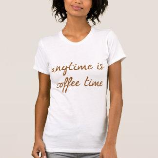Está en cualquier momento el tiempo del café poleras