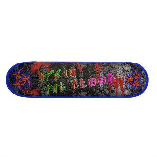 Está en el azul de la sangre [serie 1] tabla de patinar