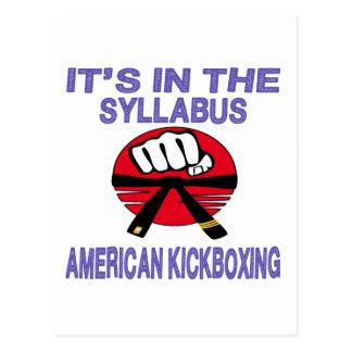 Está en el programa kickboxing. americano postal