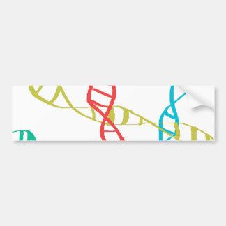 Está en mi DNA Etiqueta De Parachoque