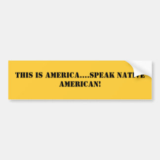 Ésta es América….¡hable a nativo americano! Pegatina Para Auto