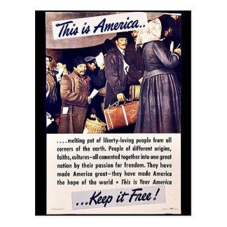 ¡Ésta es América la mantiene libre Tarjetas Postales
