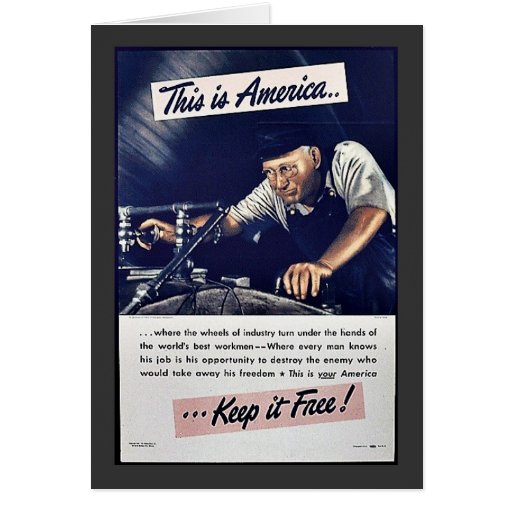 ¡Ésta es América la mantiene libre! Tarjeta De Felicitación