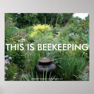 Ésta es apicultura posters