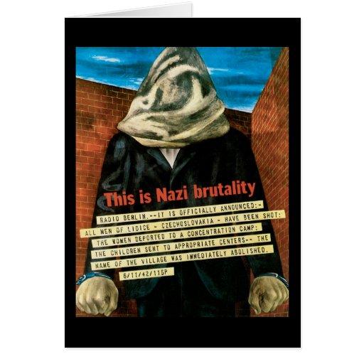 Ésta es brutalidad nazi tarjetas