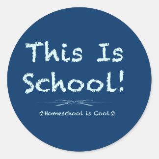 Ésta es escuela pegatinas redondas