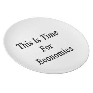 Ésta es hora para la economía