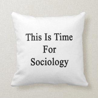 Ésta es hora para la sociología almohadas