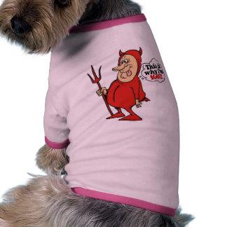 Esta es la razón por la cual soy caliente camiseta con mangas para perro