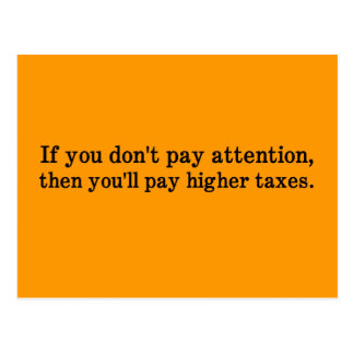 Esta es la razón por la cual sus impuestos son más postal
