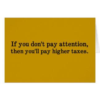Esta es la razón por la cual sus impuestos son más tarjeta de felicitación