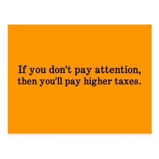 Esta es la razón por la cual sus impuestos son más postales