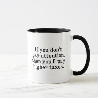 Esta es la razón por la cual sus impuestos son más taza