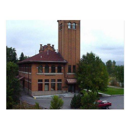 Ésta es la vieja estación de tren de Missoula Tarjetas Postales