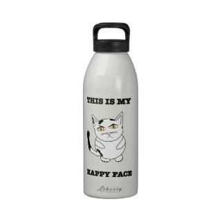 Ésta es mi botella de agua feliz de la cara