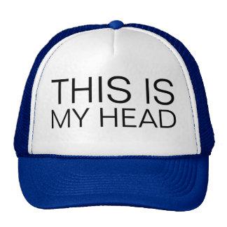 ésta es mi cabeza gorro de camionero