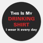 Ésta es mi camisa de consumición etiqueta redonda