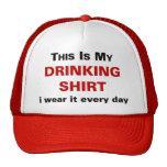 Ésta es mi camisa de consumición gorros bordados