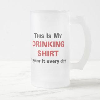 Ésta es mi camisa de consumición taza cristal mate