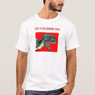 Ésta es mi camisa del dinosaurio