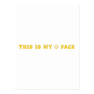 Ésta es mi cara feliz 2 tarjetas postales