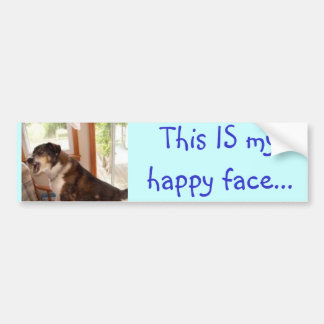 """""""Ésta ES mi cara feliz…"""" pegatina para el parachoq Etiqueta De Parachoque"""
