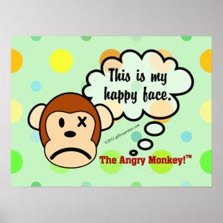 Ésta es mi cara feliz póster