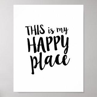 Ésta es mi cita feliz del domicilio familiar del póster