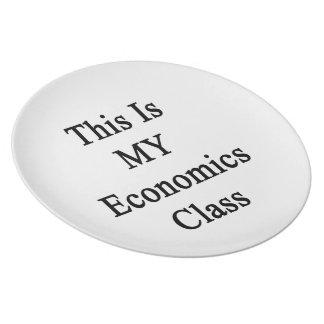 Ésta es MI clase de la economía Plato De Comida