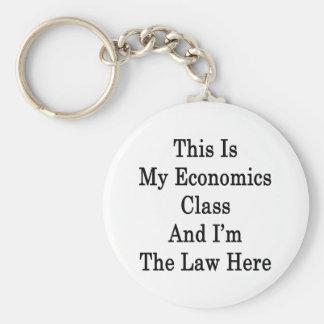 Ésta es mi clase de la economía y soy la ley aquí llavero personalizado