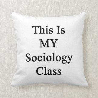Ésta es MI clase de la sociología Almohadas