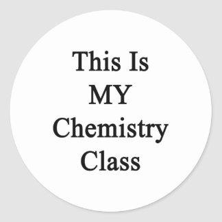 Ésta es mi clase de química pegatinas redondas