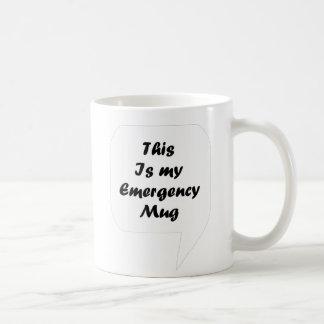 'Ésta es mi emergencia Mug Taza De Café