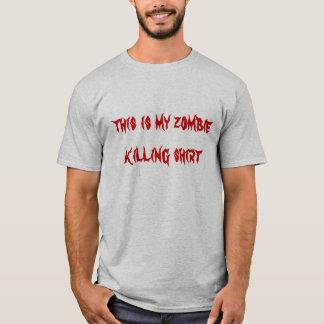 ésta es mi falda de la matanza del zombi playera