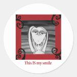 Ésta ES mi sonrisa Pegatinas Redondas
