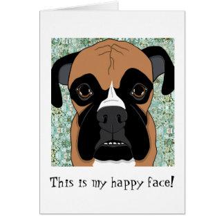 Ésta es mi tarjeta de cara feliz