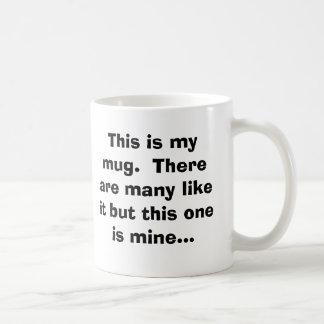 Ésta es mi taza.  Hay muchos como ella pero thi…
