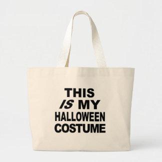 Ésta ES mis camisetas del traje de Halloween Bolsas Lienzo