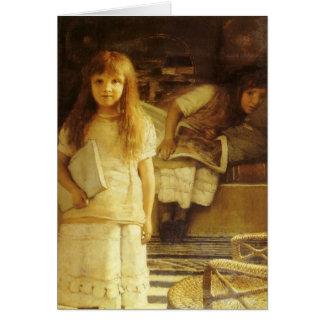 Ésta es nuestra esquina de sir Lorenzo Alma Tadema Tarjeton