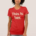 Ésta es su camiseta