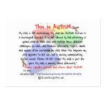 Ésta es tarjetas del folleto del autismo tarjetas de visita grandes
