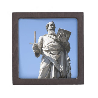 Esta estatua de Saint Paul está en el sitio derech Caja De Recuerdo De Calidad