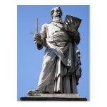 Esta estatua de Saint Paul está en el sitio derech Tarjetas Postales