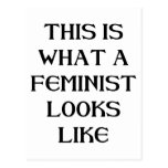 Esta feminista tarjetas postales