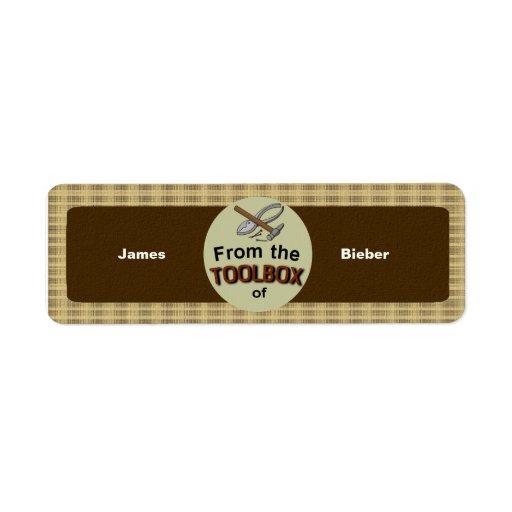 Esta herramienta pertenece a usted de encargo etiqueta de remitente