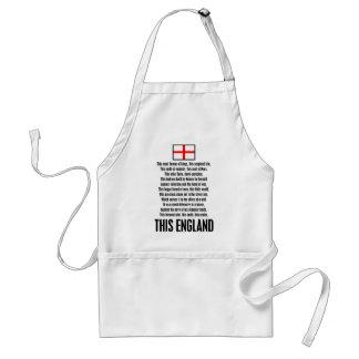 Esta Inglaterra Delantal