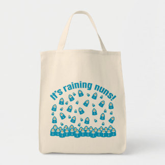 Está lloviendo a monjas bolsa lienzo