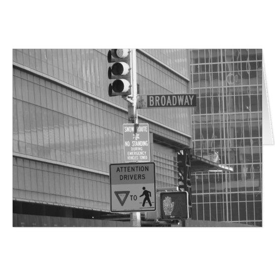Esta manera a Broadway Tarjeta De Felicitación