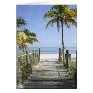 Esta manera al paraíso tarjeta de felicitación